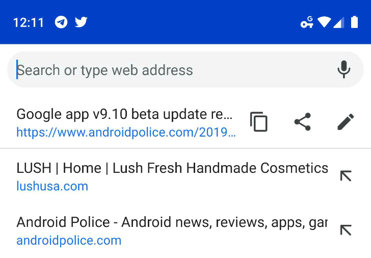 [Update: Now in stable] Chrome testing search-friendly omnibox with faster URL copy and share actions