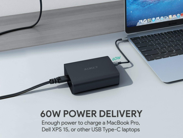 Save up to $17 on Aukey's USB-C wall chargers and charging stations