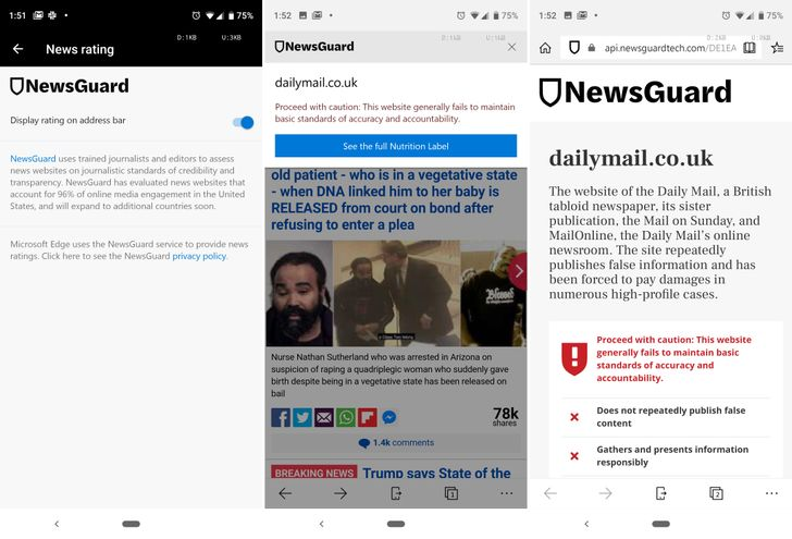 Microsoft Edge now warning users about fake news (since y'all were too naive to spot it yourselves)