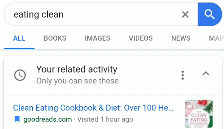 Google is now rolling out activity cards in Search to let you easily revisit past results