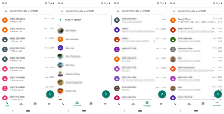 Google Voice is the latest app to get a Material makeover [APK Download]
