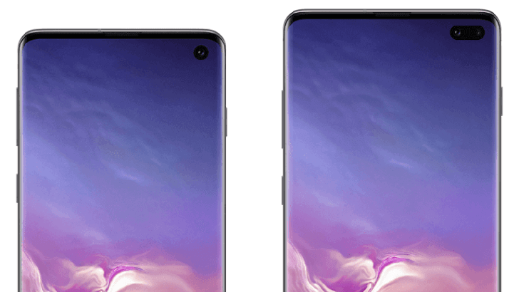 [Update: S10e too] Press renders of the Galaxy S10 and S10+ reveal Samsung is already trying to hide the hole-punch camera