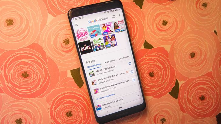 Google Podcasts receives new account switcher with swipe gesture
