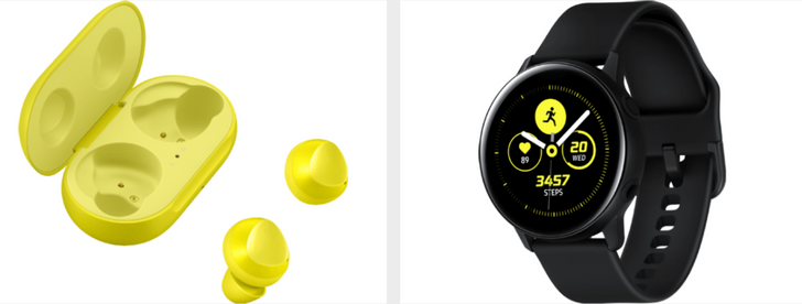 Press renders reveal new details on the Galaxy Buds and Galaxy Watch Active