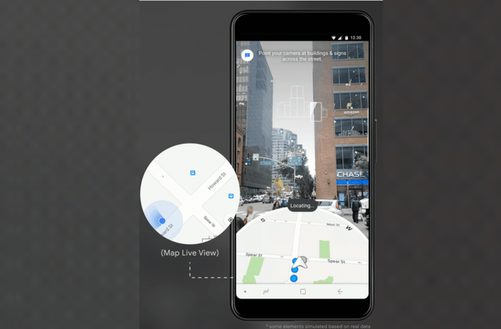 Google Maps will use your camera to determine your location more accurately