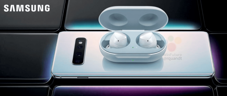 Samsung Galaxy Buds pictured charging wirelessly from Galaxy S10+ in latest batch of leaked photos