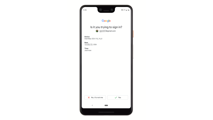 Google is testing revised two-step verification prompts on mobile