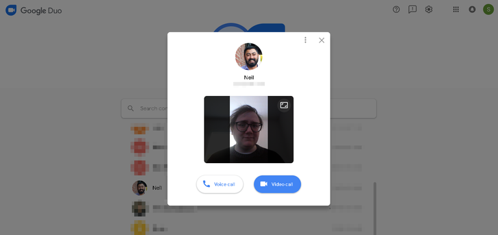 Google Duo is now available on the web