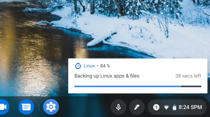 Chrome OS Dev adds support for backing up and restoring Linux containers