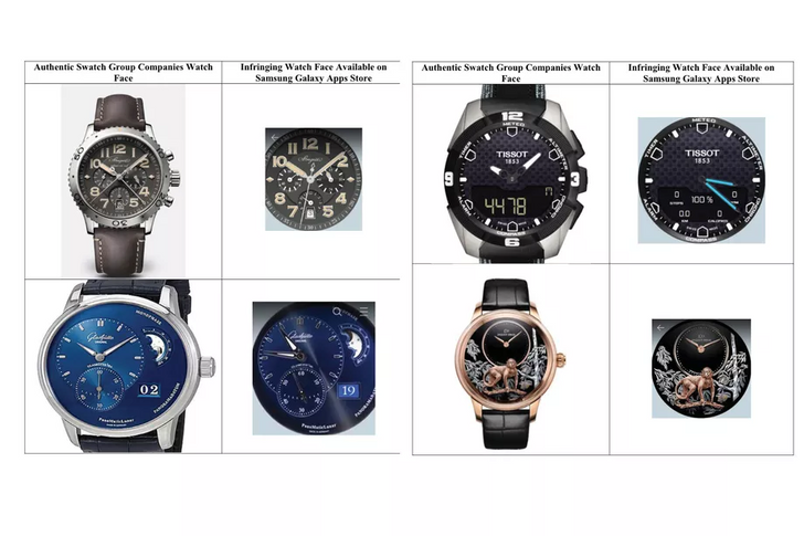 Swatch sues Samsung over cloned watch faces in Galaxy Store