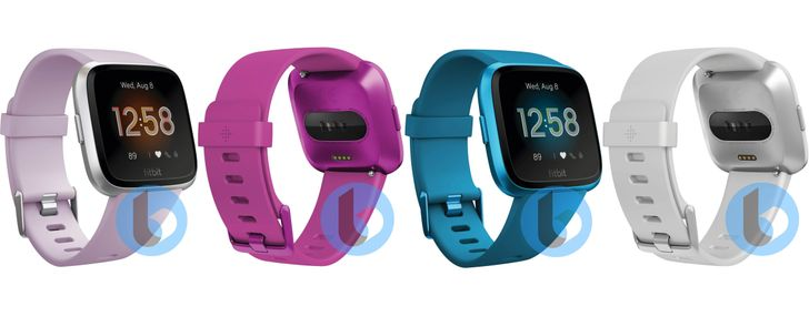 [Update: Could be the Versa Lite] Alleged Fitbit Versa 2 leaks in silver, rose pink, purple, and cyan