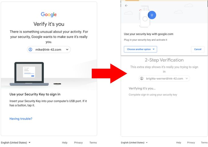 Google is rolling out a new 2-step verification screen and expanded Bluetooth security key support