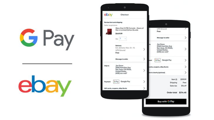 Google Pay support comes to eBay in early April
