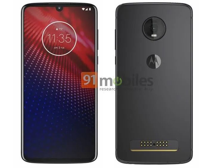 [Update: Fresh leak showing all sides] Alleged Moto Z4 leak shows off water drop notch and Moto Mod connector