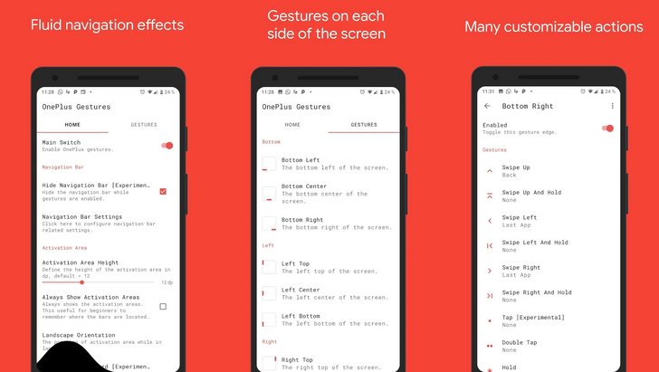 One + Gestures 2.0 update brings new gesture areas and types, visual effect, app blacklist, and more
