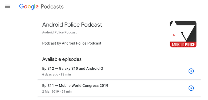 [Update: Podcasts on web official] You can listen to Google Podcasts on the web with a simple URL edit