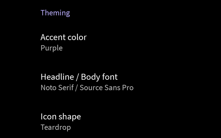 [Update: More colors] Android Q developer options include accent color, font, and icon shape customization