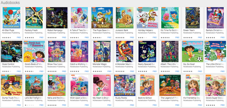 Grab these 30 free Nickelodeon Audiobooks from Google Play
