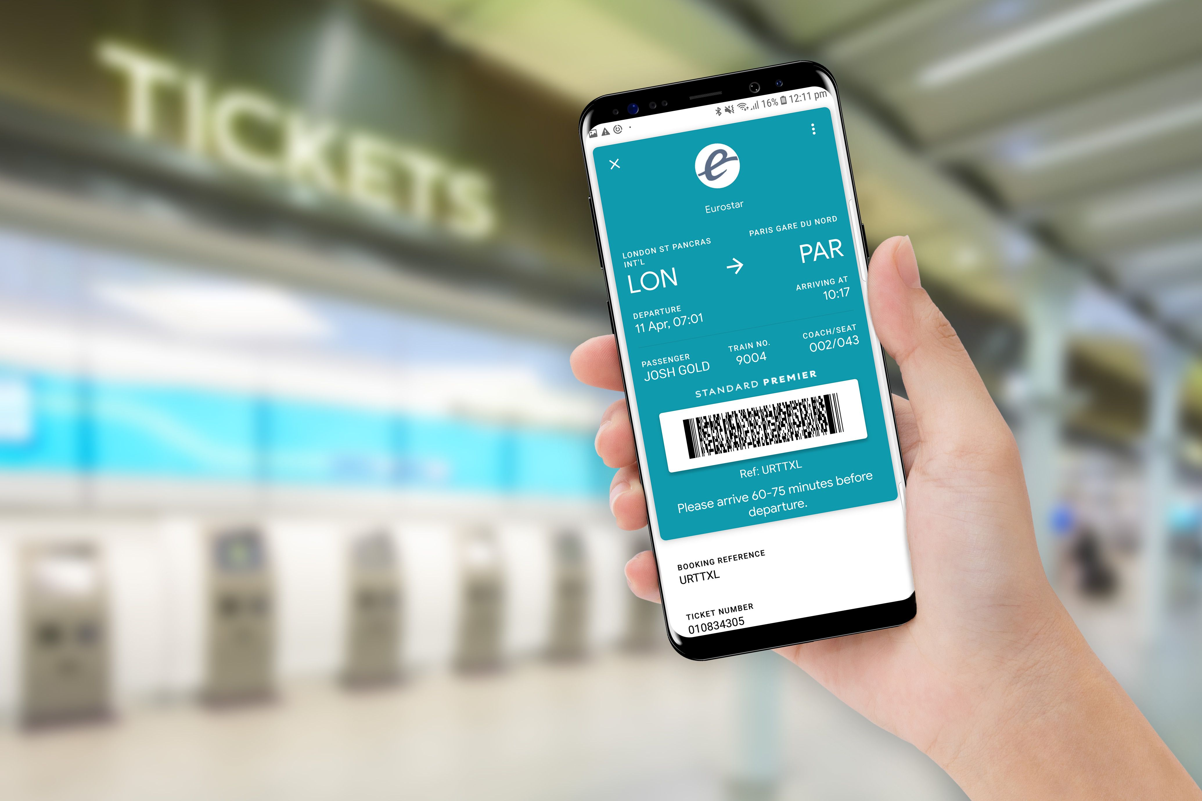 Google Pay can now be used to save Eurostar train tickets