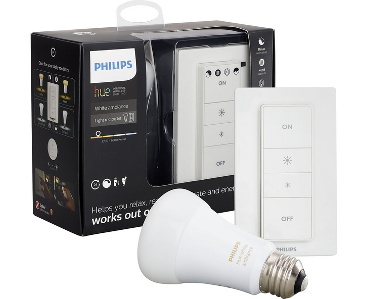 Best Buy has a Hue White Ambiance bulb and dimmer switch bundle for $30 ($20 off)