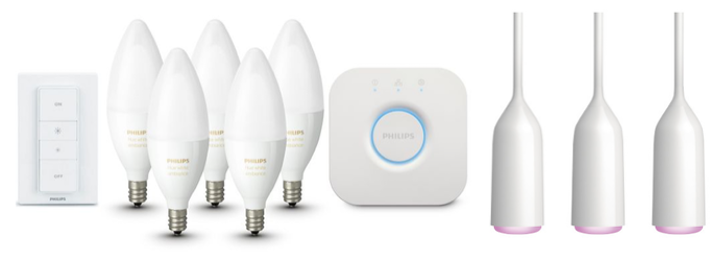 Save up to 20% on these color Philips Hue bundles: 5-pack bulbs, switch, and hub for $270, or 3 pendant lamps and bridge for $290