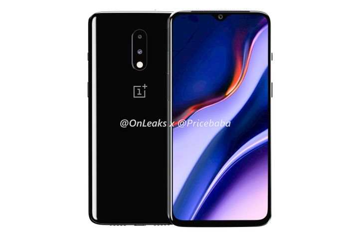 [Update: Teaser video] New OnePlus 7 renders reveal version with waterdrop notch and no pop-up camera
