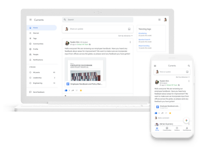 Currents is the new Google+ for enterprise with a few tweaks
