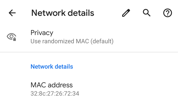 Android Q randomizes MAC addresses by default, with per-network customization