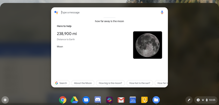 Chrome OS Dev channel integrates Google Assistant results in app drawer search