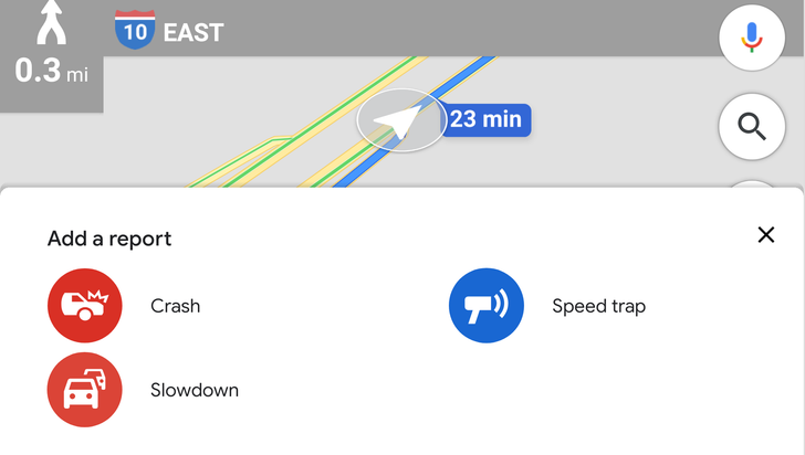 Google Maps adds traffic slowdowns to incident reporting