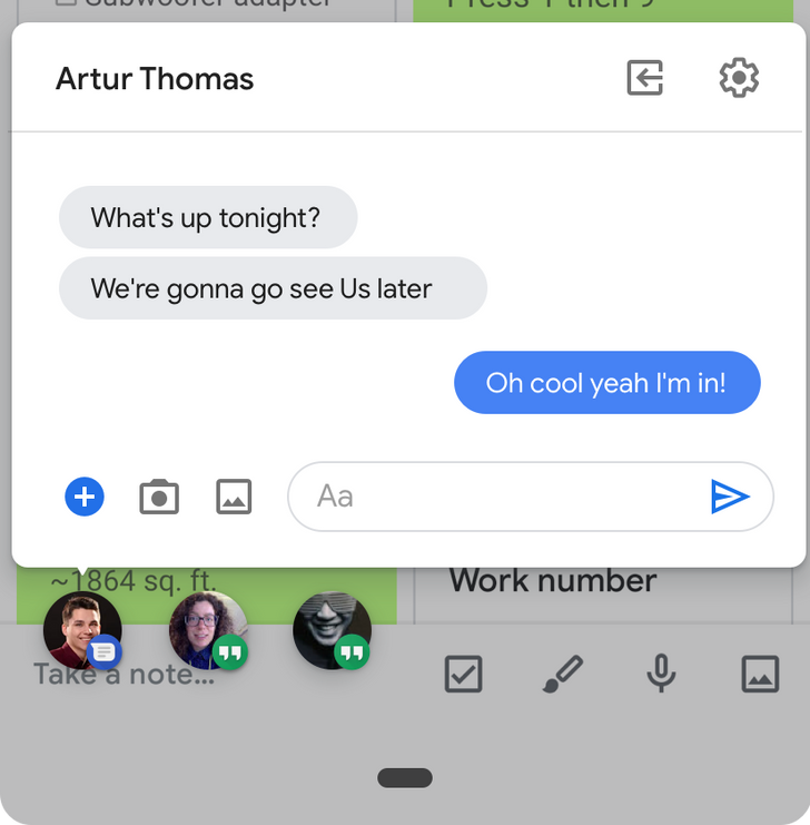 Android Q Beta 2 'Bubbles' are basically system-level chat heads