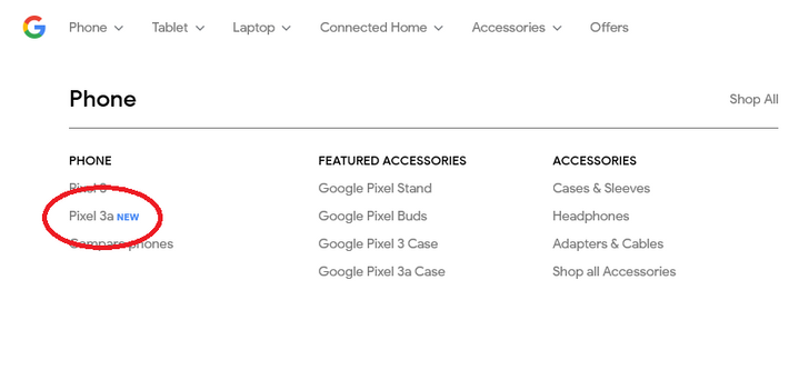 Pixel 3a shows up on the Google Store, continues to be very poorly kept secret