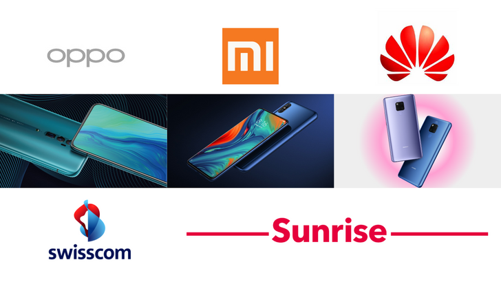 Huawei, OPPO, Xiaomi begin 5G battle in Switzerland with new phones from May 1