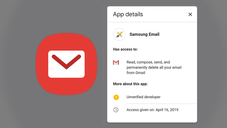Don't panic: Emails about Samsung Email accessing your Gmail are legit, Samsung is working on a fix