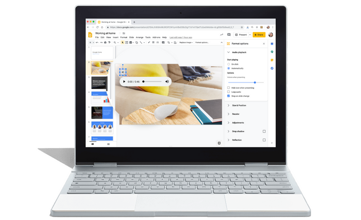 Google Slides to let your annoying coworker add annoying music to his annoying presentations