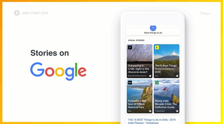 AMP Stories will roll out to mobile Google Search soon