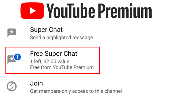 YouTube Premium users getting $2 in free, monthly Super Chat credit