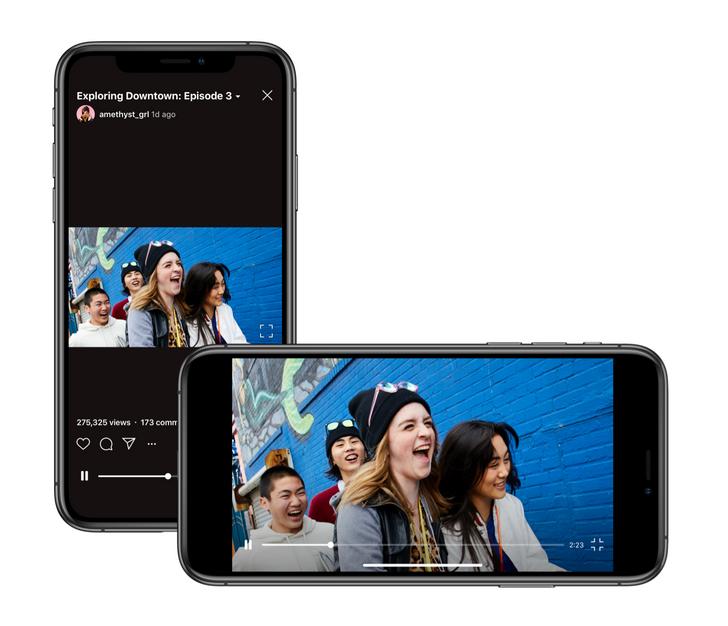 Instagram's IGTV still exists, adds support for landscape videos