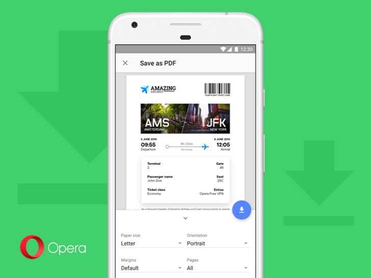 Opera 52 lets you save pages as PDF and brings other minor improvements