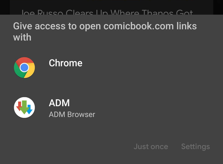 It's easier to swap between browsers on Android Q Beta 3