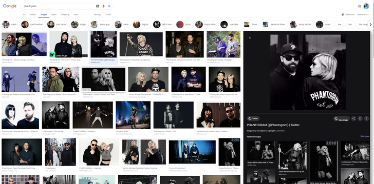 [Update: Rolling out] Google Images experiments with dark, right-sided preview panel