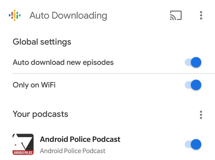 Google Podcasts can auto-download new episodes from your favorite shows