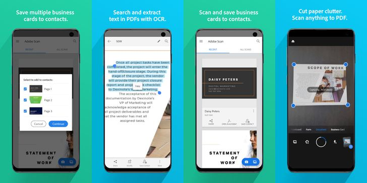 Adobe Scan updated to better capture forms, business cards, and more