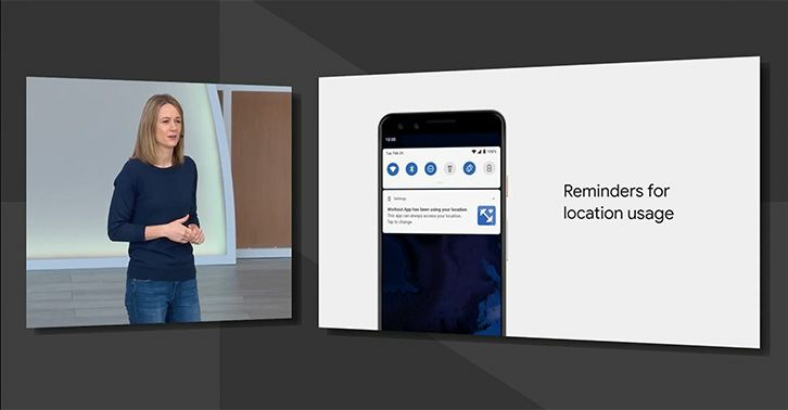 Android Q Beta 3 adds location sharing reminders for background apps
