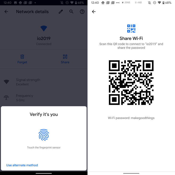 Android Q Beta 3 can show WiFi passwords in plain text