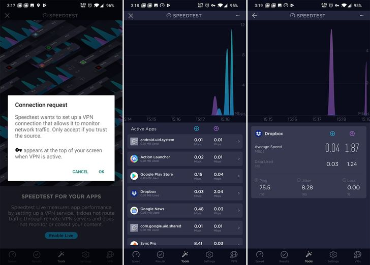 The new Speedtest Live tool tracks data usage by individual apps