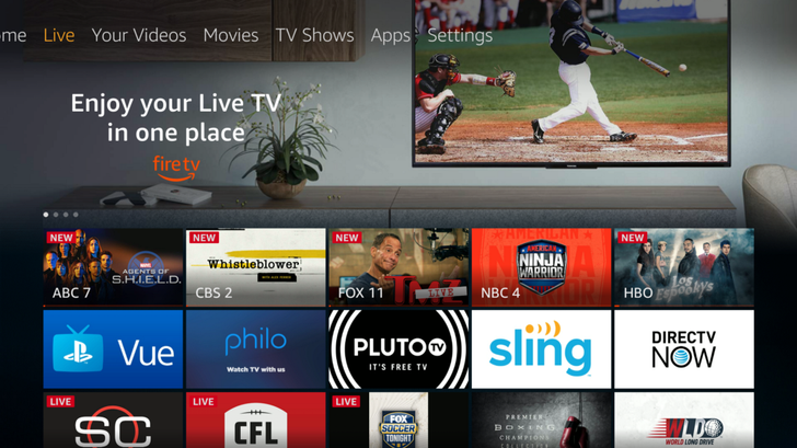 Fire TV devices have a new hub for all your live content
