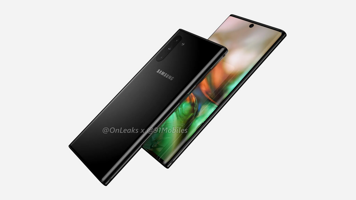Samsung Galaxy Note 10 renders confirm no headphone jack or Bixby button