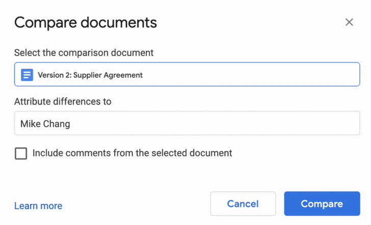 Google Docs can finally highlight differences between two documents