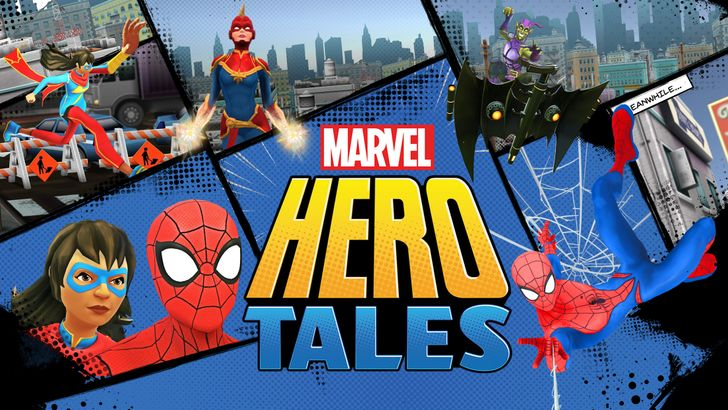 Marvel Hero Tales is an edutainment app to help kids learn to read and stuff